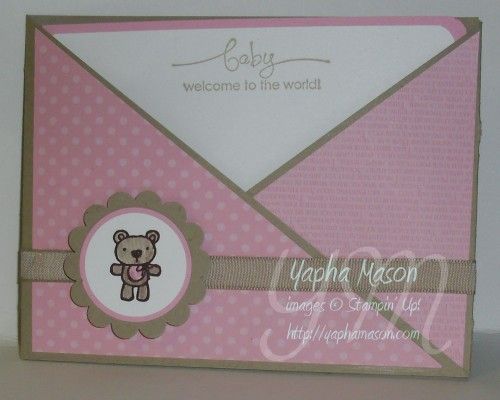 Baby Criss Cross Card