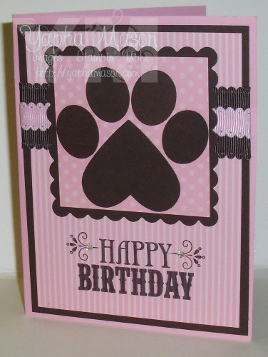 Paw Print Card by Yapha Mason