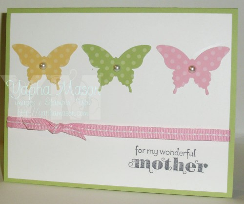 Butterfly Mother's Day Card by Yapha