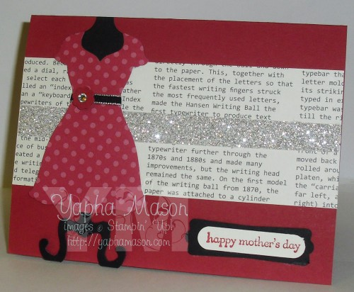 Red Dress Mother's Day Card by Yapha
