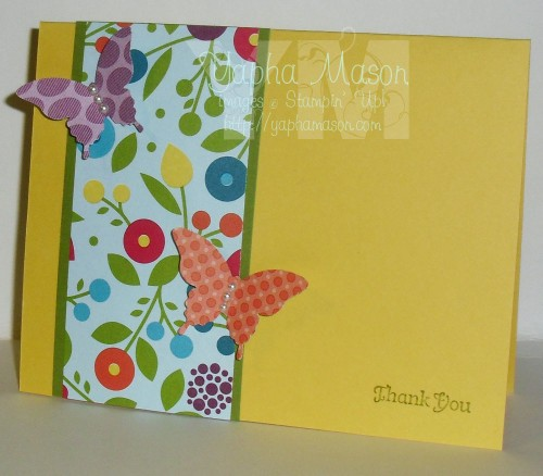 Buterfly Thank You card by Yapha