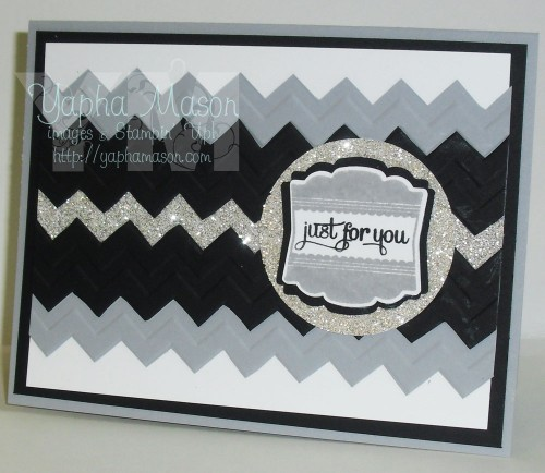 Just for You card in Silver & Black