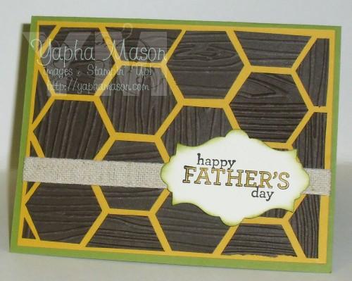 Woodgrain Hexagon Father's Day Card by Yapha