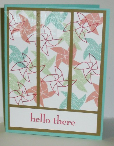 Pinwheel Hello Card by Yapha