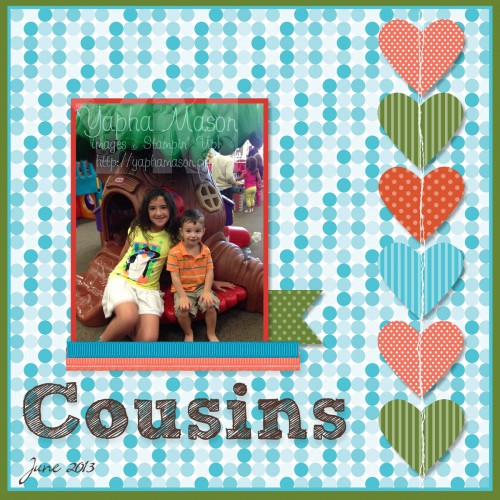 Cousins Scrapbook Page by Yapha Mason