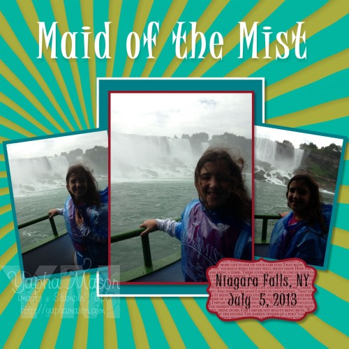 Maid of the Mist Scrapbook Page by Yapha Mason