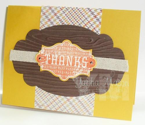 Harvest of Thanks Card by Yapha Mason