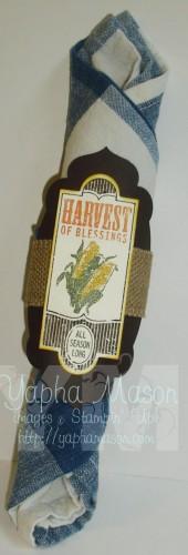 Harvest of Thanks Napkin Ring by Yapha Mason