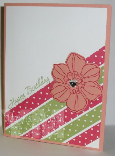 Diagonal Polka Dots Birthday Card by Yapha Mason