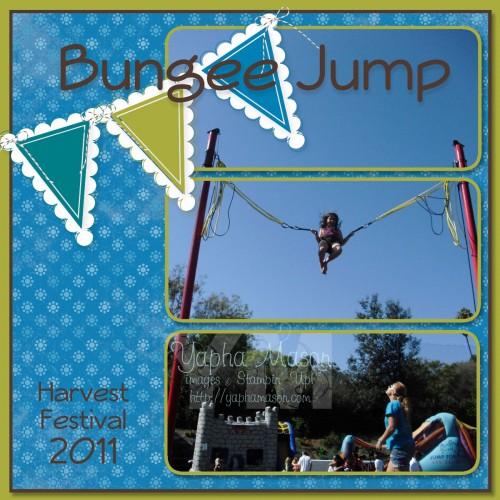 Bungee Jump scrapbook page by Yapha Mason