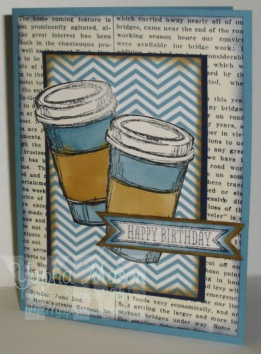 Coffee Birthday Card by Yapha Mason