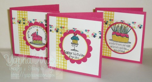 Washi Tape Mini Birthday Cards by Yapha Mason