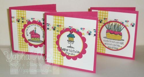 Washi Tape Mini Birthday Cards by Yapha Mason