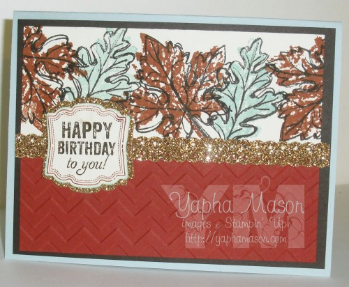 Fall Leaves Birthday Card by Yapha Mason