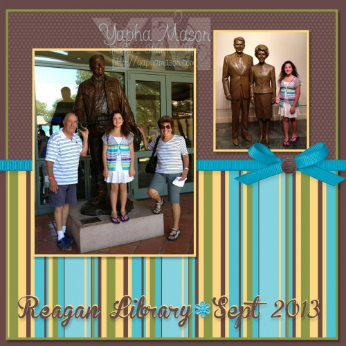 Reagan Library Scrapbook Page by Yapha Mason