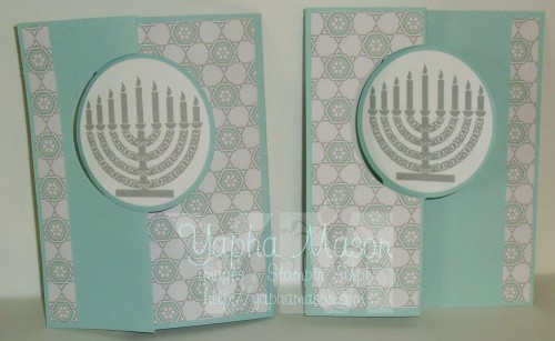Hanukkah Circle Thinlet Cards by Yapha Mason