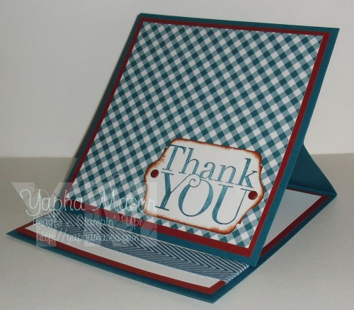 Thank You Easel Card by Yapha Mason