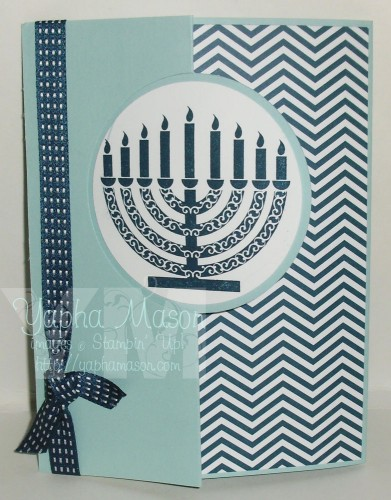 Hanukkah Circle Thinlet Card by Yapha Mason