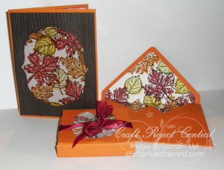 Gently Falling Tea Lights & Card by Yapha Mason