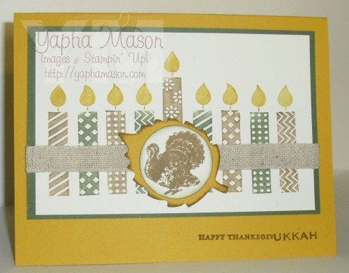 Thanksgivukkah Card by Yapha Mason