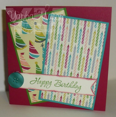 Happy Birthday square card by Yapha Mason