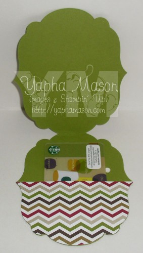 Perfect Blend Gift Card Holder (inside) by Yapha