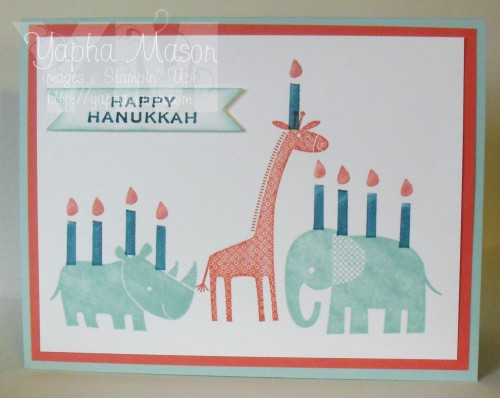 Zoo Babies Hanukkah Card by Yapha