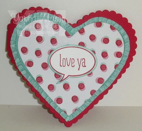 Love Ya heart card by Yapha
