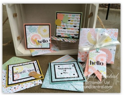 Note Card Set & Envelope Punch Board Box