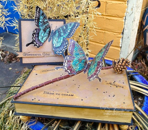 Swallowtail Altered Book Box & Card
