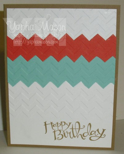 Zig Zag Birthday Card by Yapha Mason