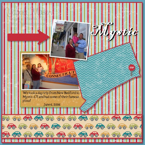 Mystic Road Trip scrapbook page by Yapha Mason