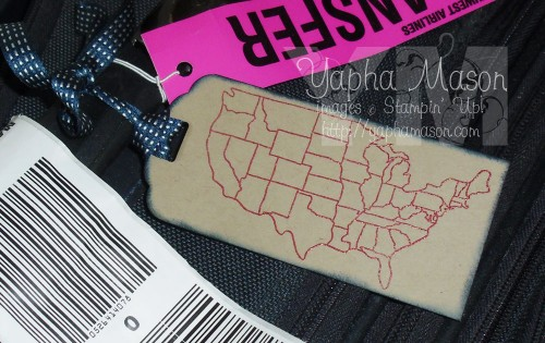 Map It Out Luggage Tag by Yapha Mason
