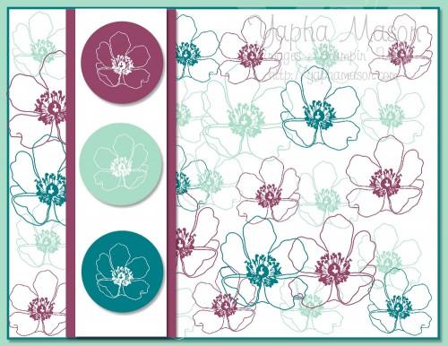 Fabulous Florets Card 1 by Yapha Mason