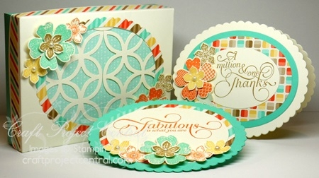 Floral Lattice Box Card Set