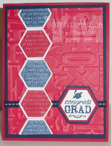 Six-Sided Sampler Graduation Card by Yapha