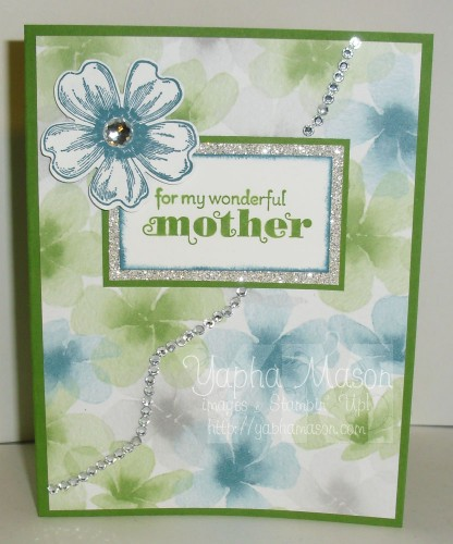 Rhinestone Mother's Day Card by Yapha