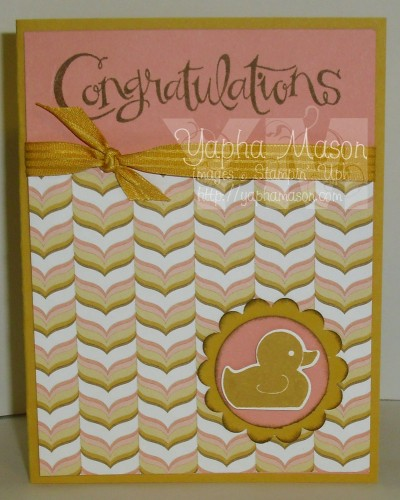 Congratulations Rubber Ducky Card by Yapha Mason