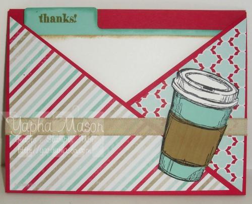 Coffee Criss Cross Card by Yapha Mason