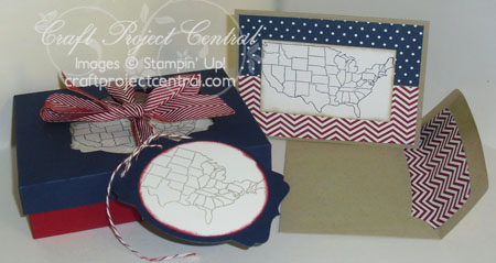 Patriotic Card Set with Window Box