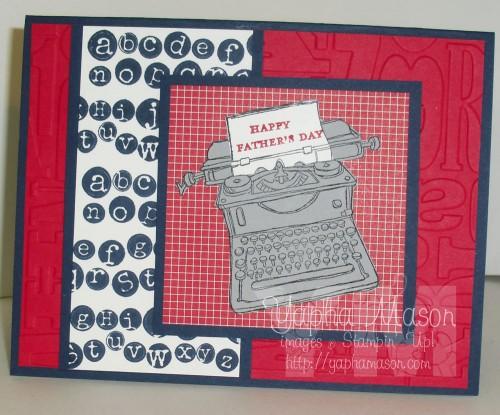 Father's Day Typewriter by Yapha Mason