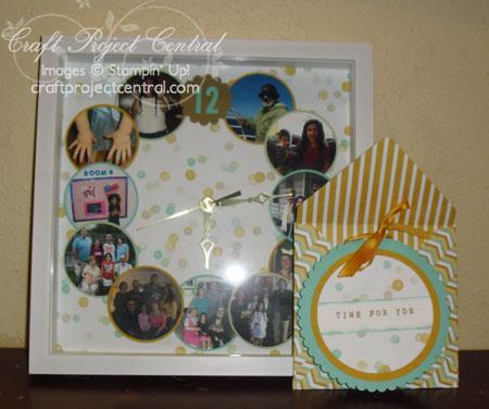 Scrapbook Page Clock Gift Set