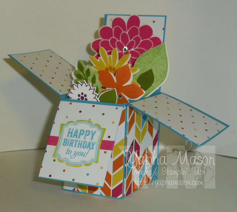 Flower Patch Card in a Box by Yapha