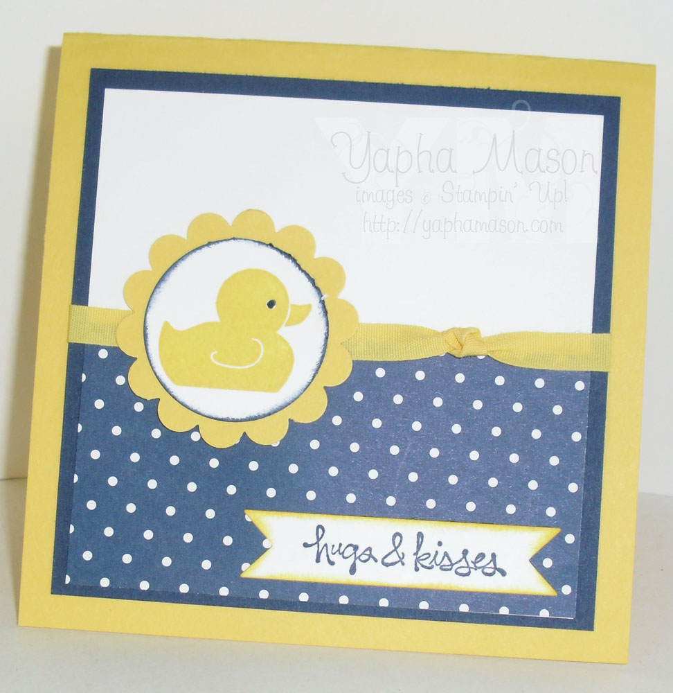 Rubber Ducky Square Card by Yapha