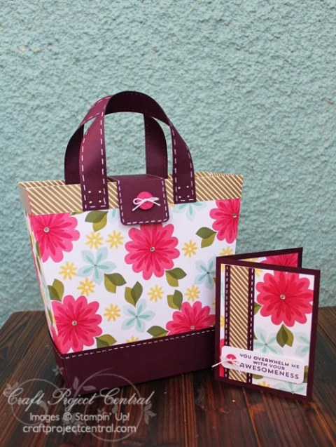 Floral Tote Bag & Card