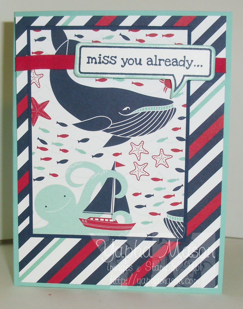End of Summer Whale card  by Yapha