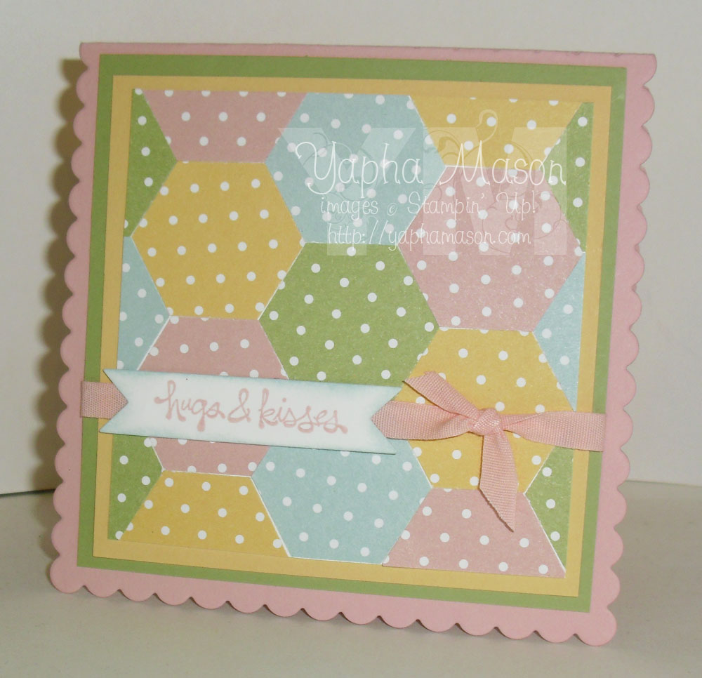 Polka Dot Baby Quilt Card by Yapha