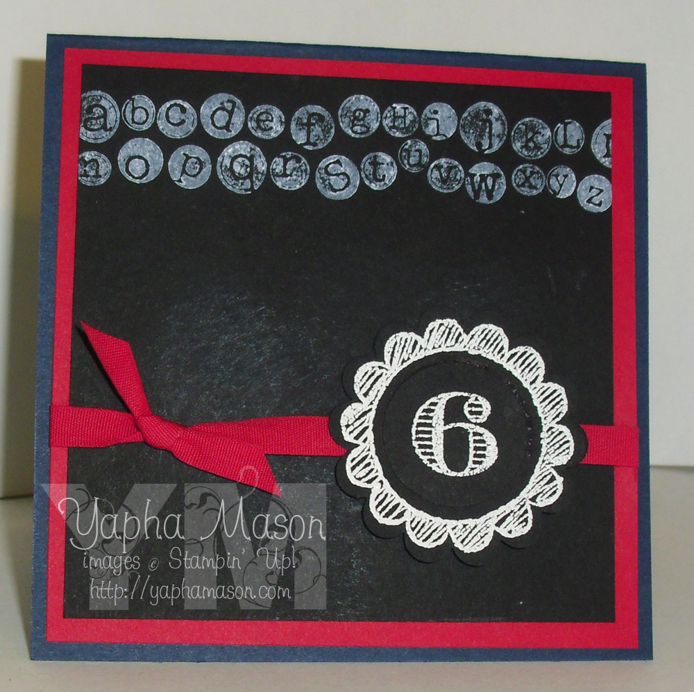 Back to School Card by Yapha