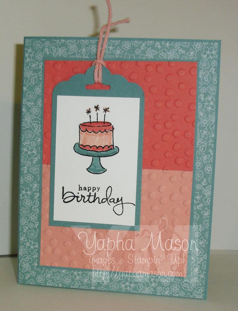 Birthday tag card by Yapha