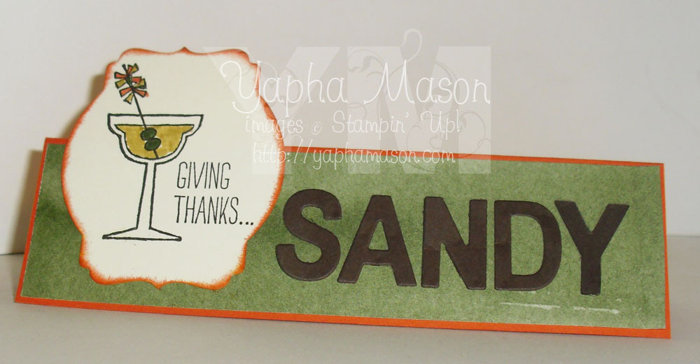 Thanksgiving Place Card by Yapha Mason